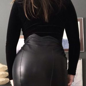 Sexy Vintage Leather (reversible) Pencil Skirt